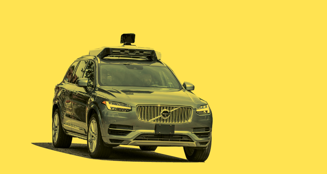 Image of a Volvo car with camera attached to the top
