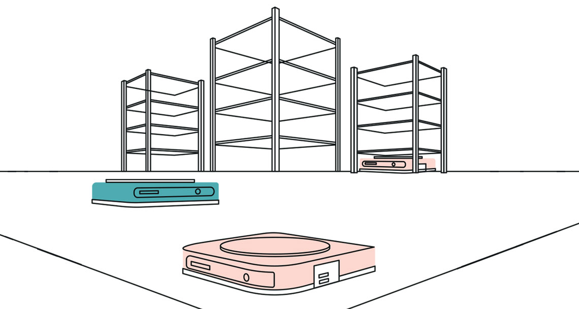 illustration of a warehouse