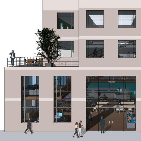 illustration of a modern office